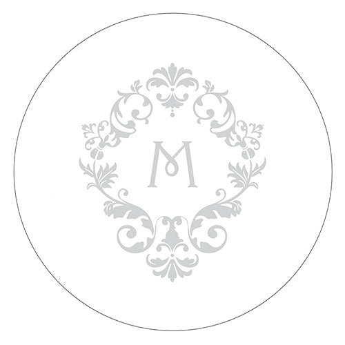 Monogram Simplicity Small Sticker - Classic Filigree