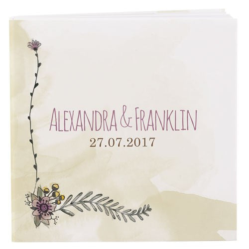 Natural Charm Wedding Favor Notepad
