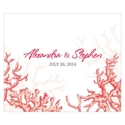 Reef Coral Rectangular Label