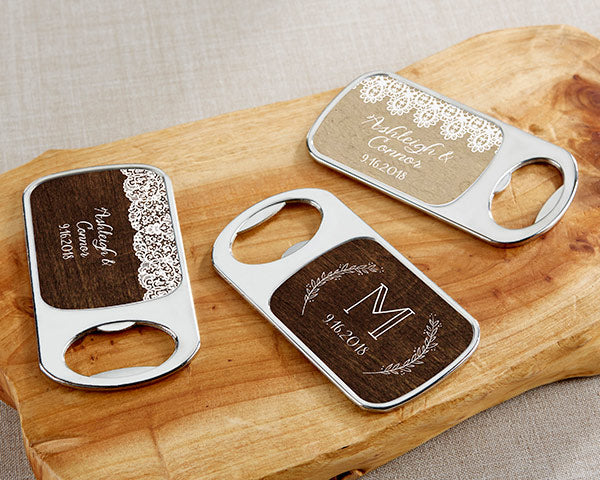 Personalized Bottle Openers - Silver
