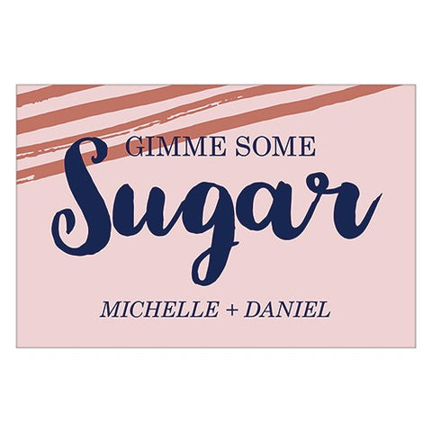 "Small Photo Frame Sticker - ""Gimme Some Sugar"" Message - Retro Luxe"