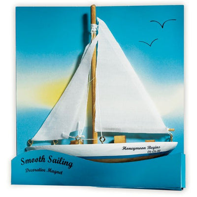 Sails Away Magnet wedding favor