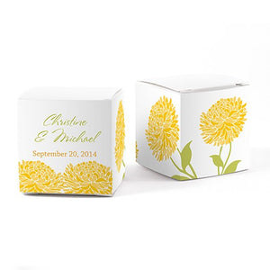 Zinnia Bloom Favor Box Wrap