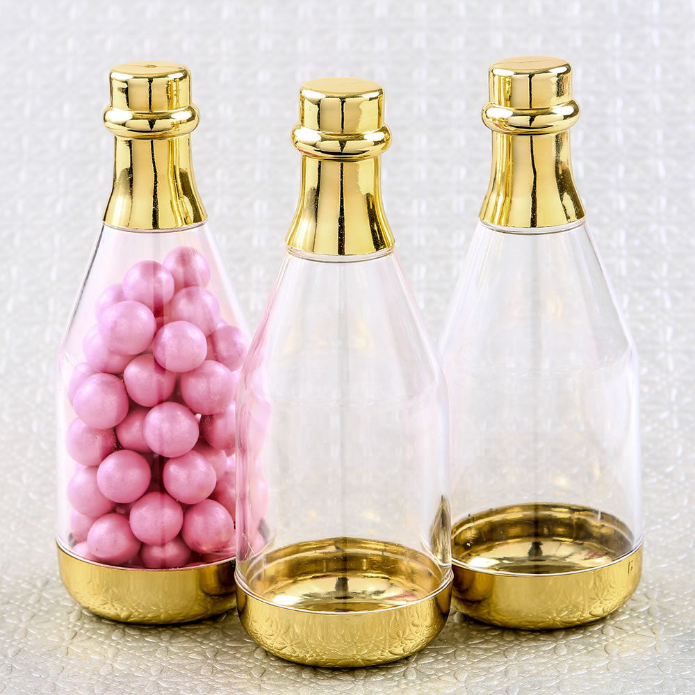 Gold Champagne Bottle Container