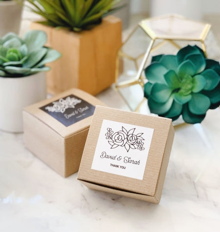 Simple Floral Favor Boxes