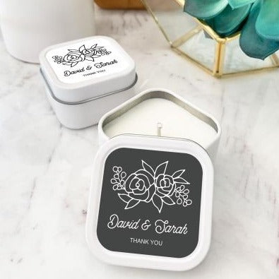 Simply Floral Candle Tins