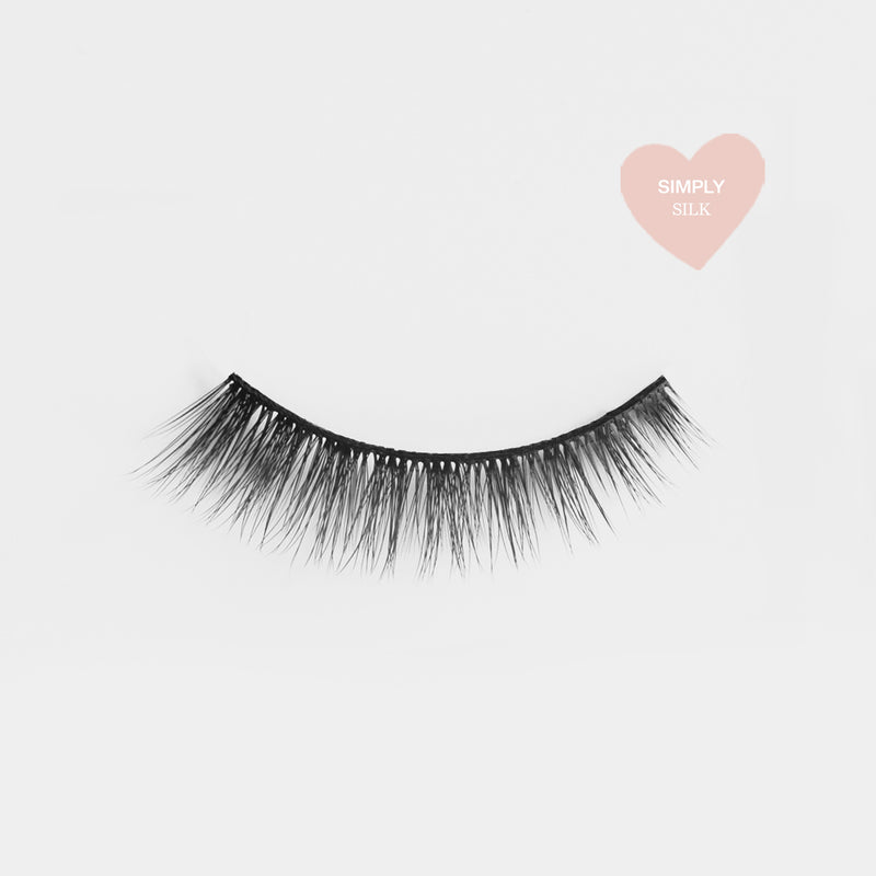 Simple natural looking lashes made out of high quality premium silk. Cruelty free lashes. Reusable lashes and mouldable comfort cotton band. Best high quality lashes. Easy to apply.