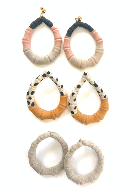 Copy of Polka Dot Bamboo Earrings