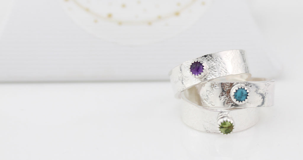 Silver Birthstone Toe Ring