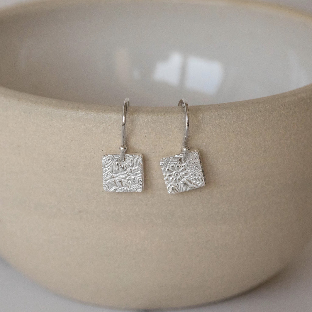Sterling Silver Small Square Earrings