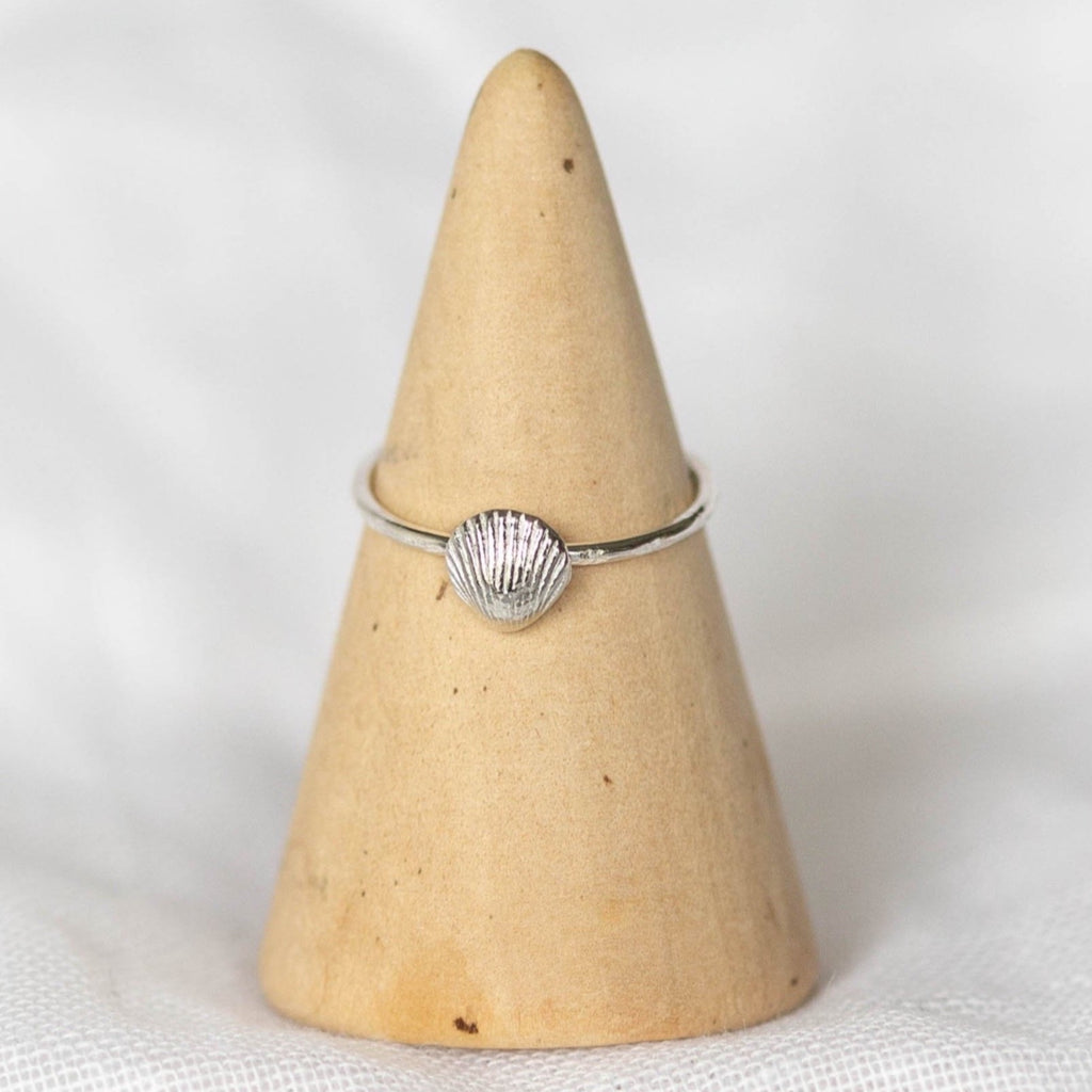 Sterling Silver Cornish Shell Ring