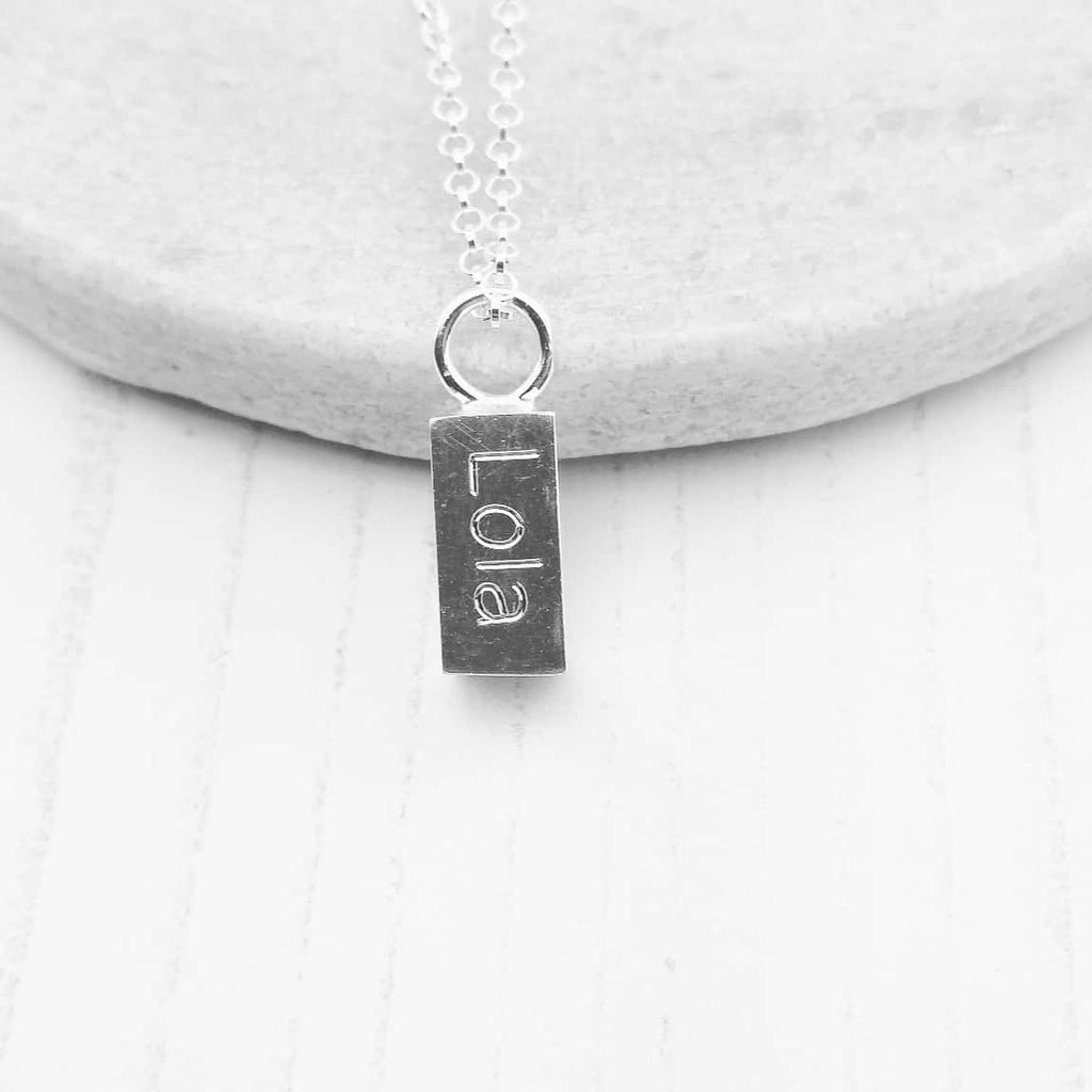 handmade sterling silver solid ingot with engraving