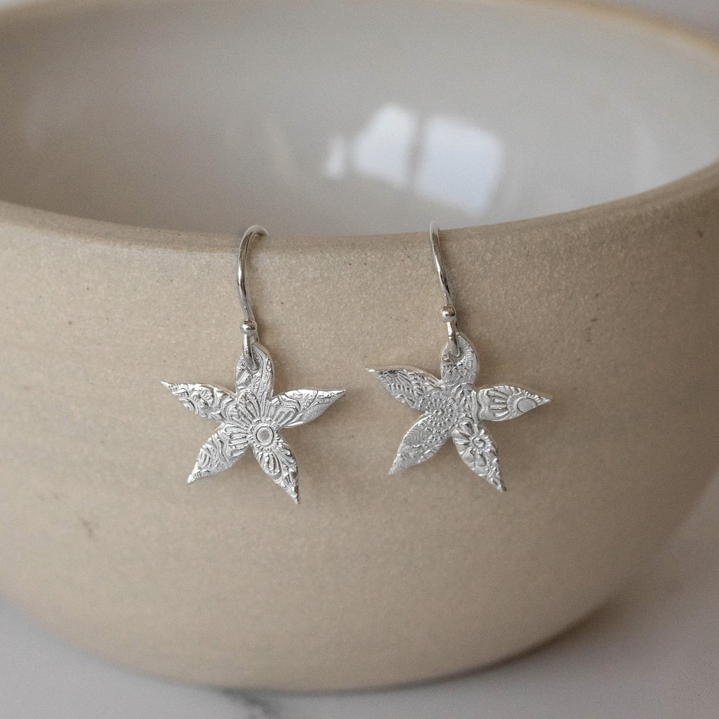 Sterling Silver Jasmine Earrings