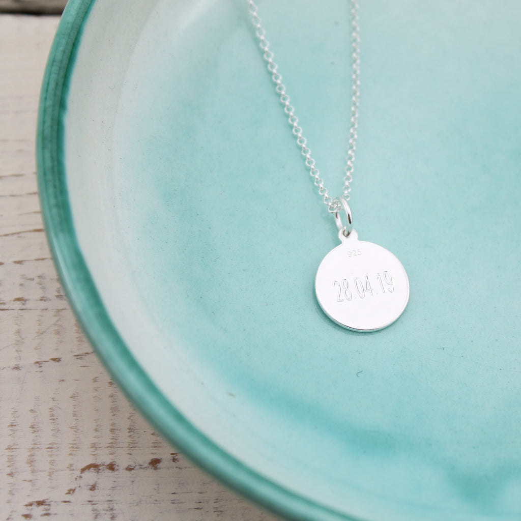 Silver Personalised St Christopher Pendant