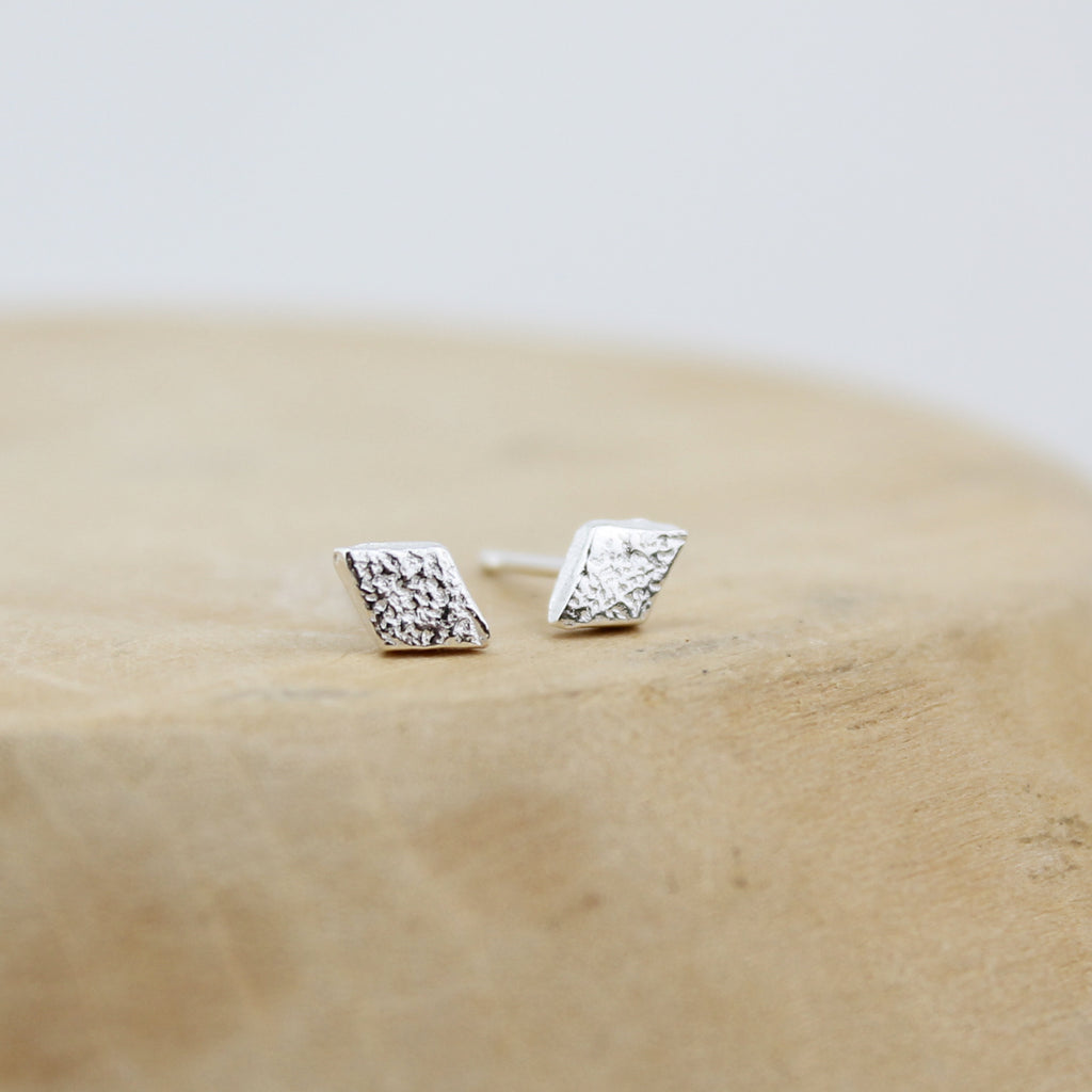 Sterling Silver Mini Stud Diamond