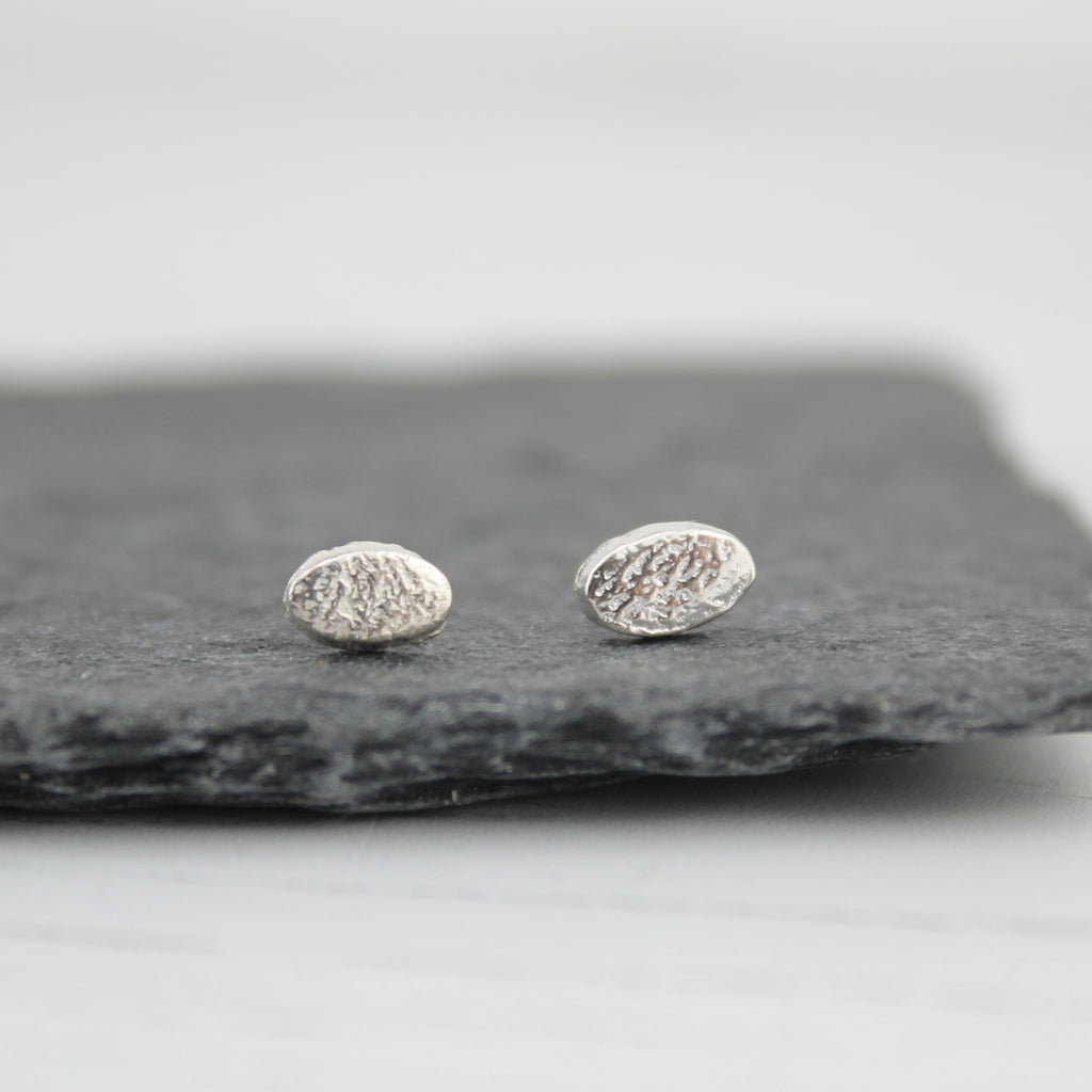 Sterling Silver Mini Oval Studs