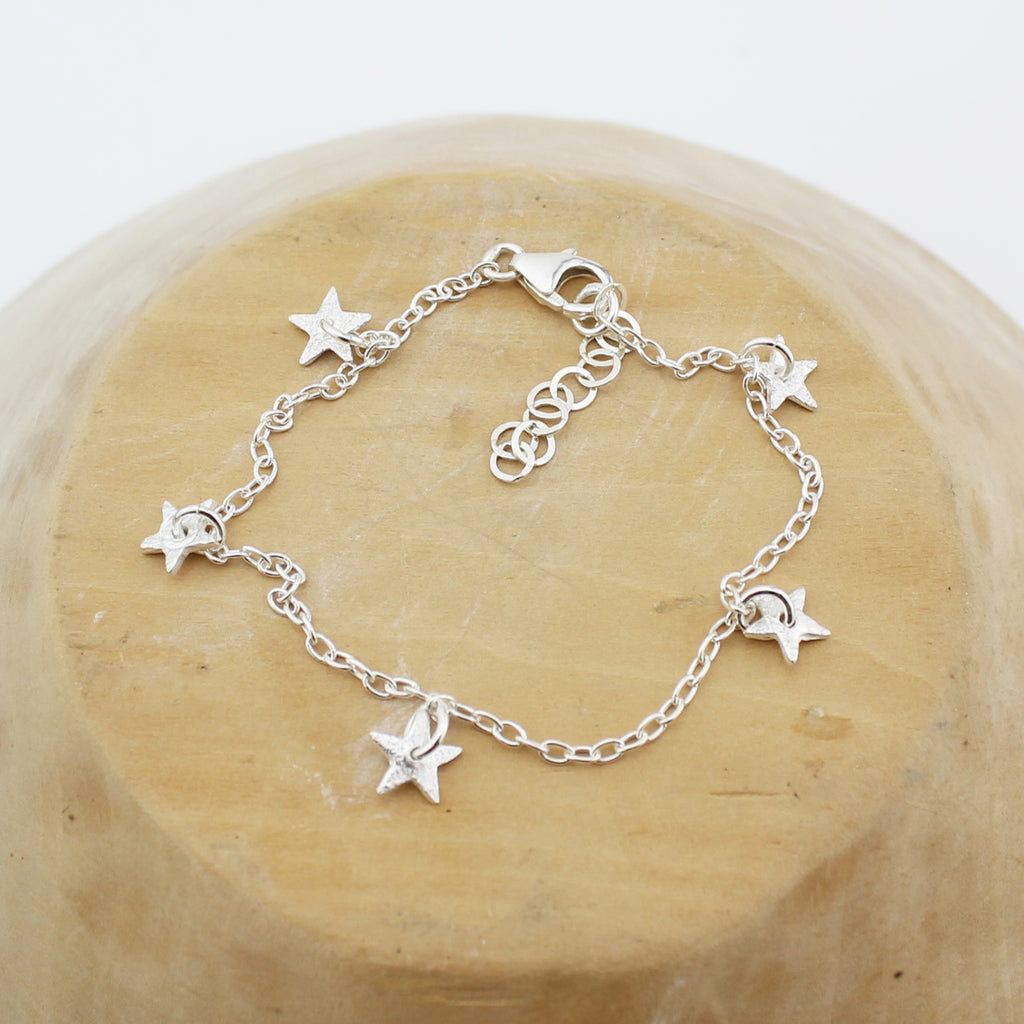 Silver Personalised Star Charm Bracelet