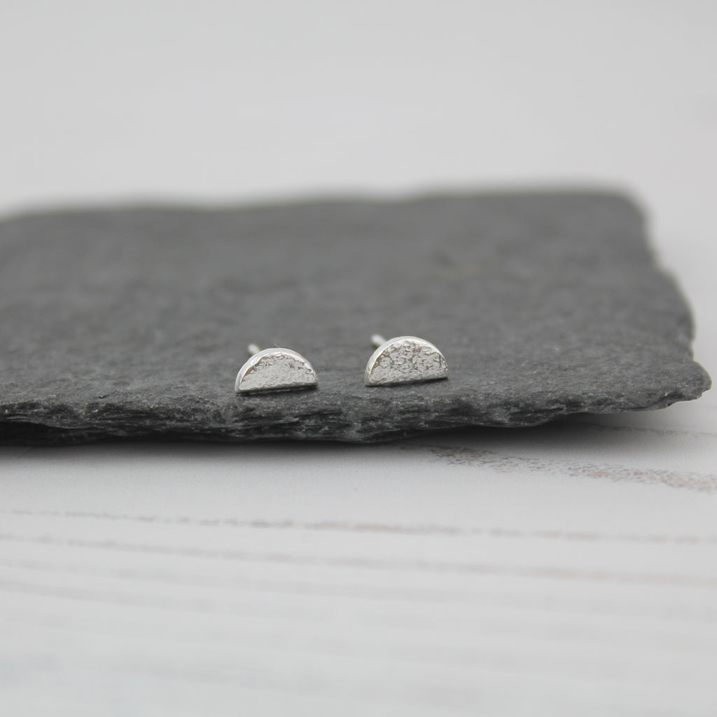Silver Sunrise Mini Studs