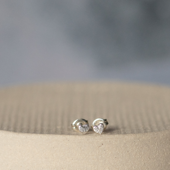 Sterling Silver Mini Studs Heart