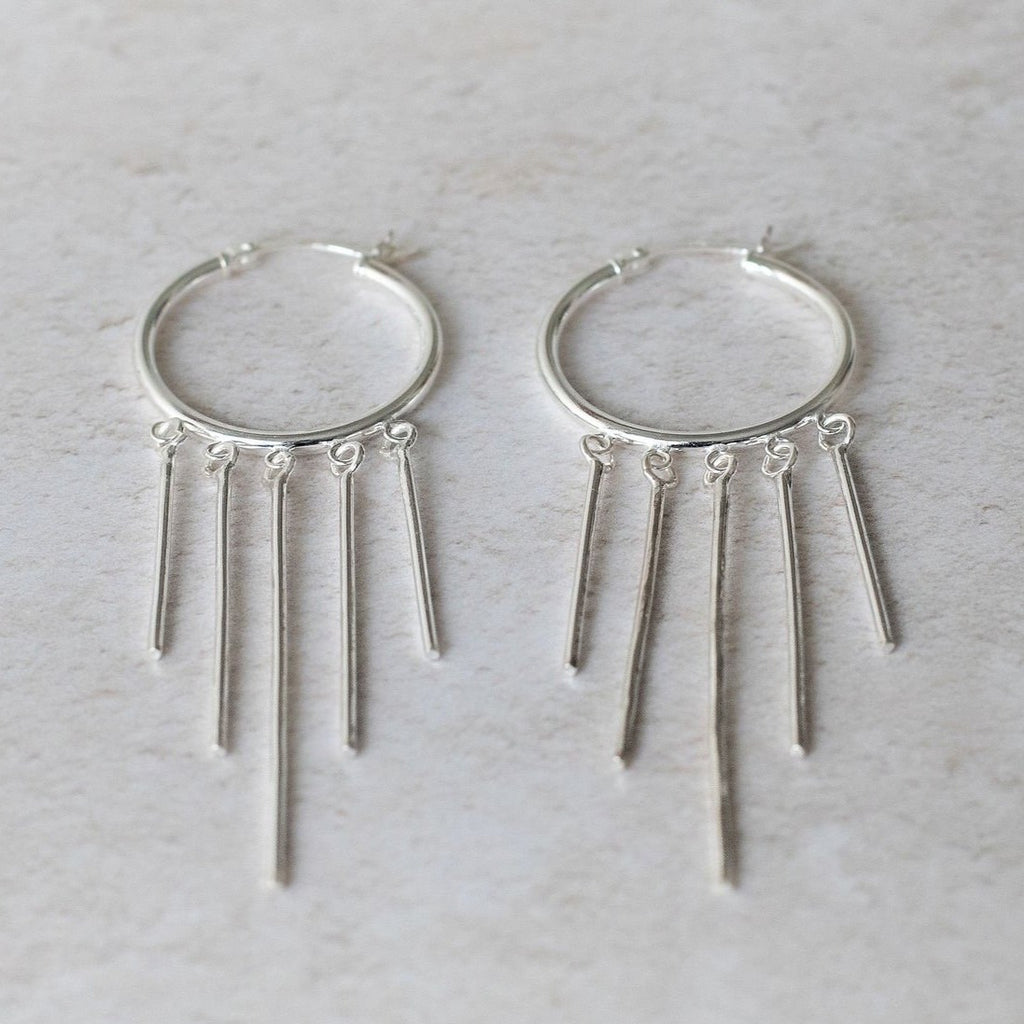 Sterling Silver Spike Earrings