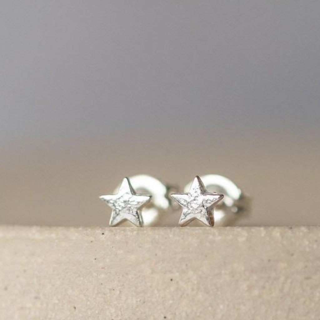 Sterling Silver Mini Studs Star