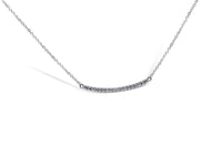 Curved Diamond Bar Necklace - Sydney Rosen