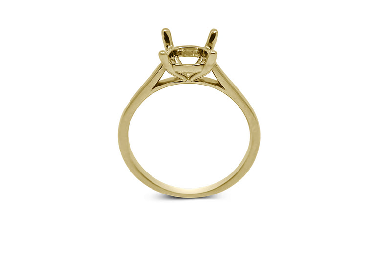 Cathedral Solitaire Engagement Ring Setting