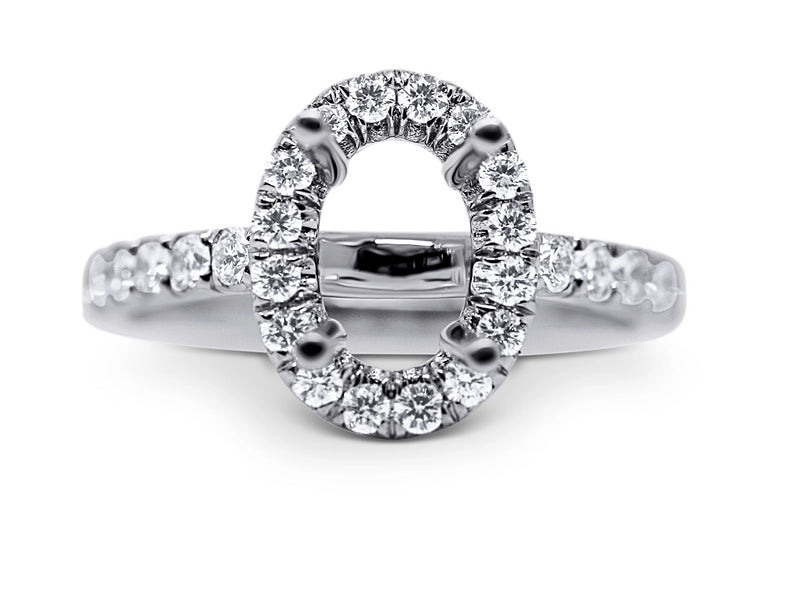 Oval Halo Style Diamond Engagement Ring Setting - Sydney Rosen