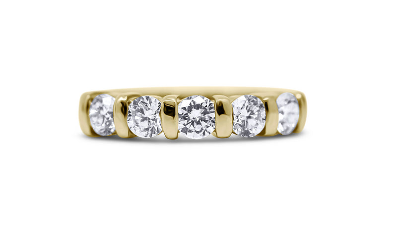 Bar Set 5-Stone Wedding Ring - Sydney Rosen
