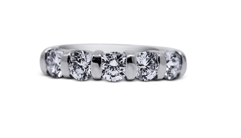 Bar Set 5-Stone Wedding Ring