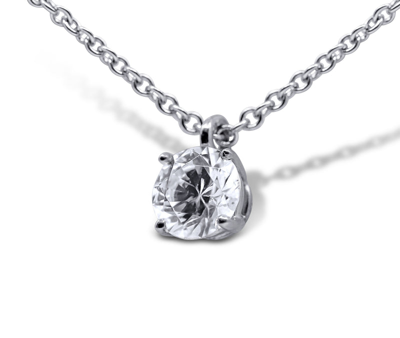 Solitaire Diamond Necklace - Sydney Rosen