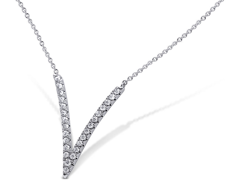 V Shaped Diamond Pendant
