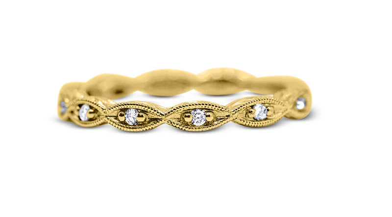 Stackable Diamond Wedding Ring - Sydney Rosen