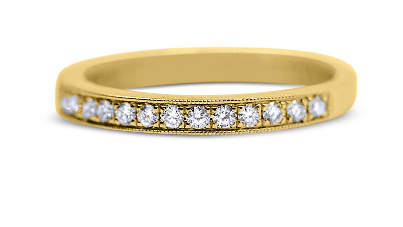 Bead Set Diamond Wedding Ring - Sydney Rosen