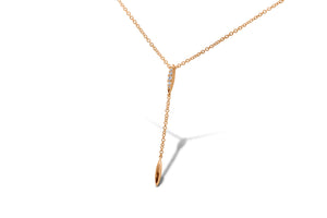 Lariat Drip Diamond Necklace - Sydney Rosen