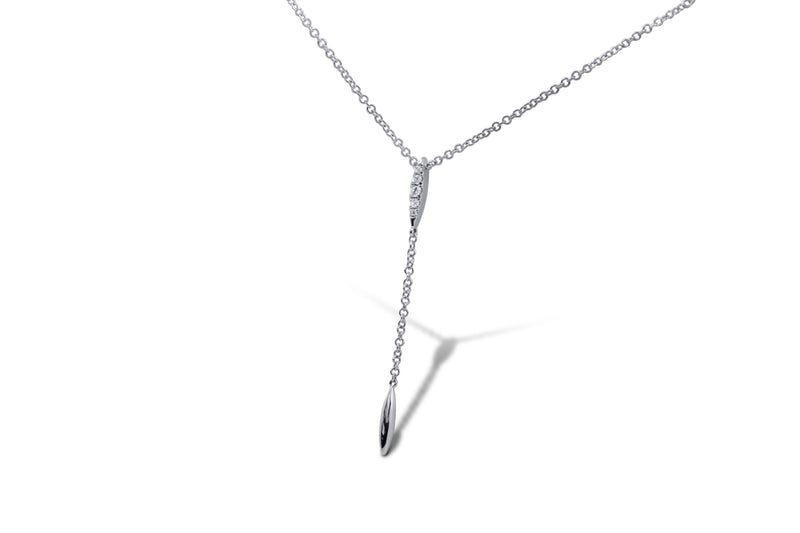 Lariat Drip Diamond Necklace
