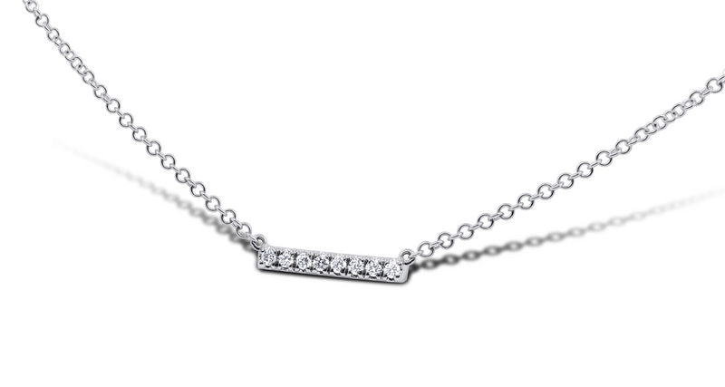 Petite Diamond Bar Necklace - Sydney Rosen