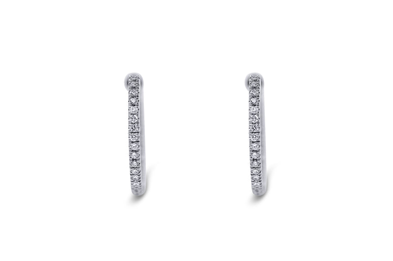 Inside Out Diamond Hoop Earrings - Sydney Rosen