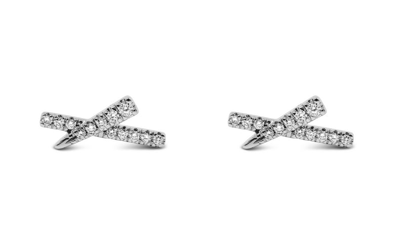 Diamond X Earrings