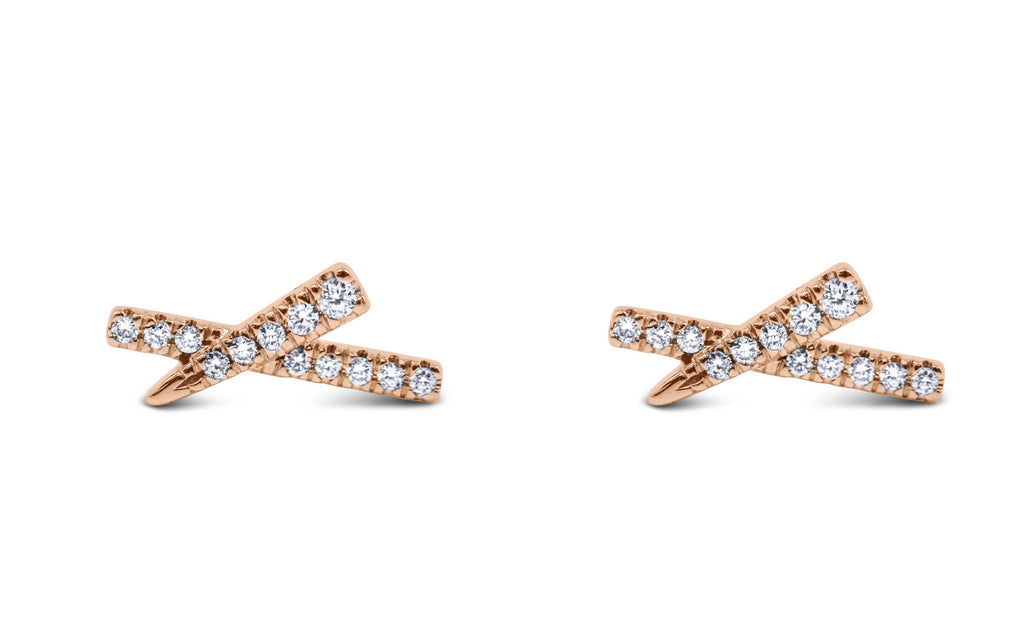 Diamond X Earrings - Sydney Rosen