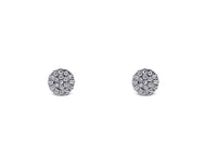 Diamond Circle Cluster Earrings