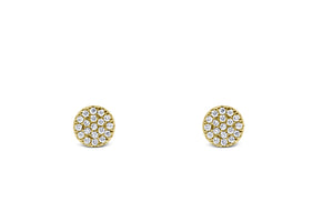 Diamond Circle Cluster Earrings - Sydney Rosen