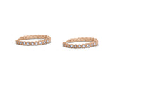 Bezel Set Huggy Hoop Earrings