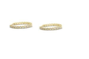 Bezel Set Huggy Hoop Earrings - Sydney Rosen