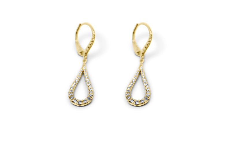 Tear Drop Diamond Earrings