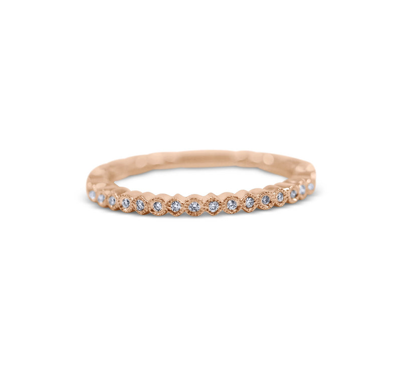 Petite Diamond Stack Ring - Round and Square