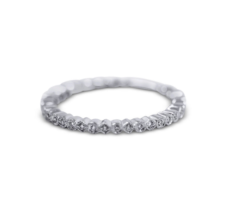 Petite Diamond Stack Ring - Round and Square - Sydney Rosen