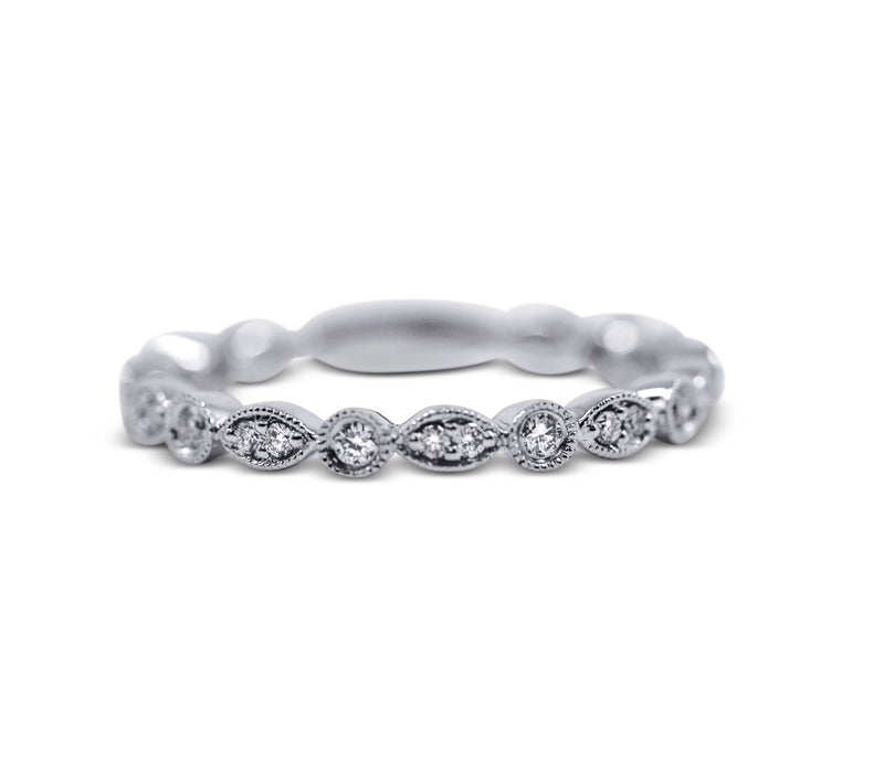 Diamond Stack Ring - Round and Marquise - Sydney Rosen