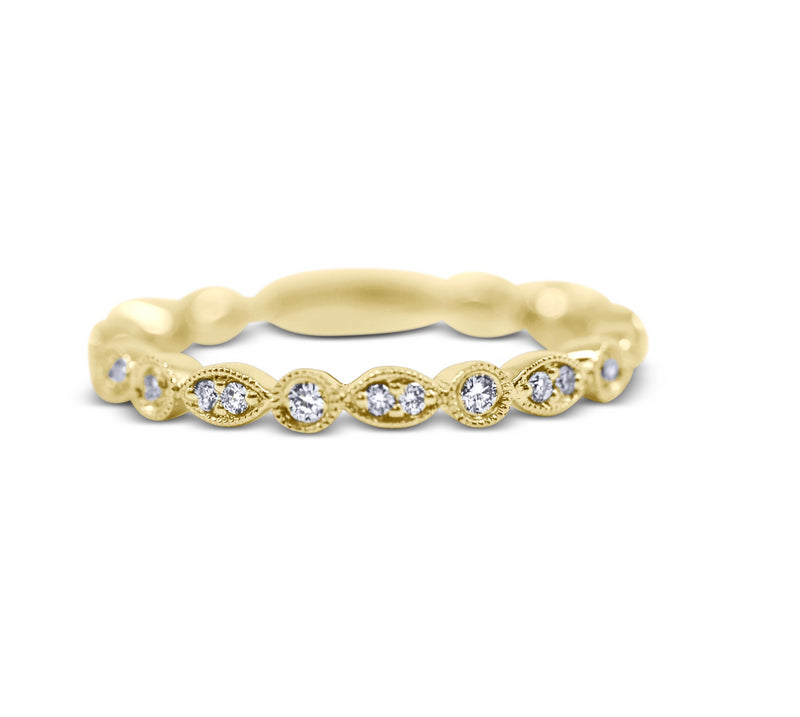 Diamond Stack Ring - Round and Marquise