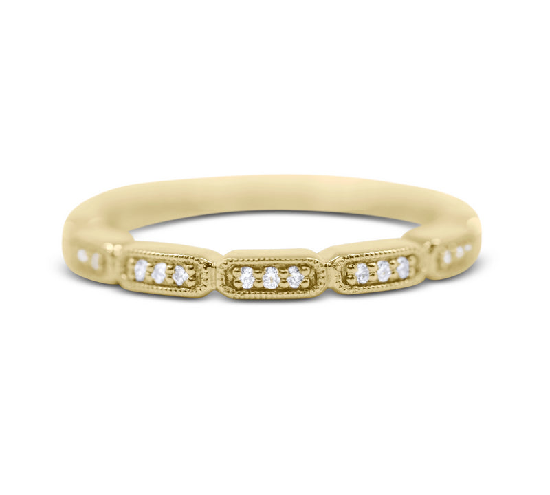 Diamond Stack Ring - Rectangle